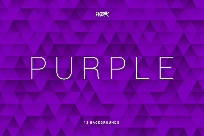 Thumbnail for Purple | Abstract Triangles Mosaic Backgrounds