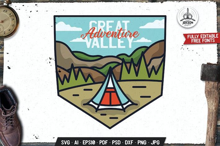 Thumbnail for Great Adventure Emblem Modern Logo. Travel Badge