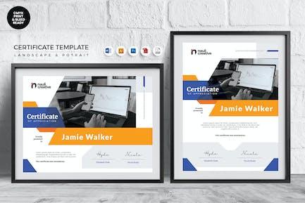 Professional Certificate Template Vol.22