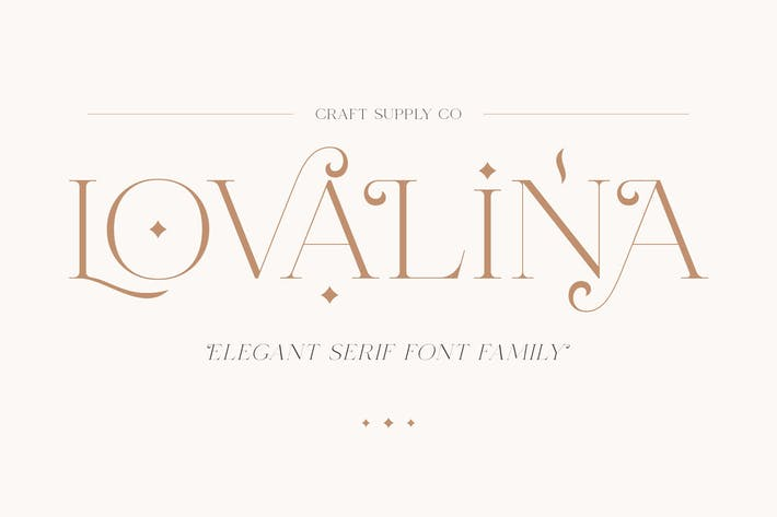 Thumbnail for Lovalina - Elegant Con serifa Familia tipográfica