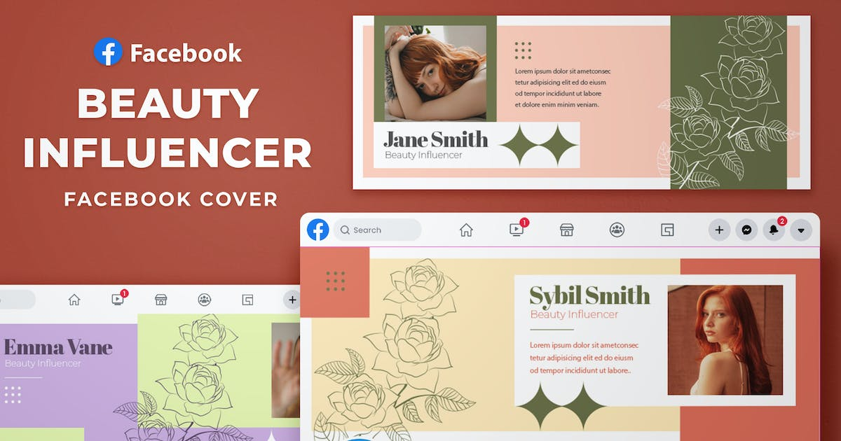 Download Facebook Cover - Beauty Influencer by SlideFactory