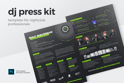 DJ & Producer Press Kit / Resume / Rider Template