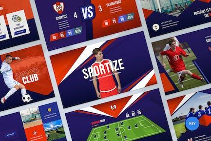 Soccer Club Keynote Presentation Template