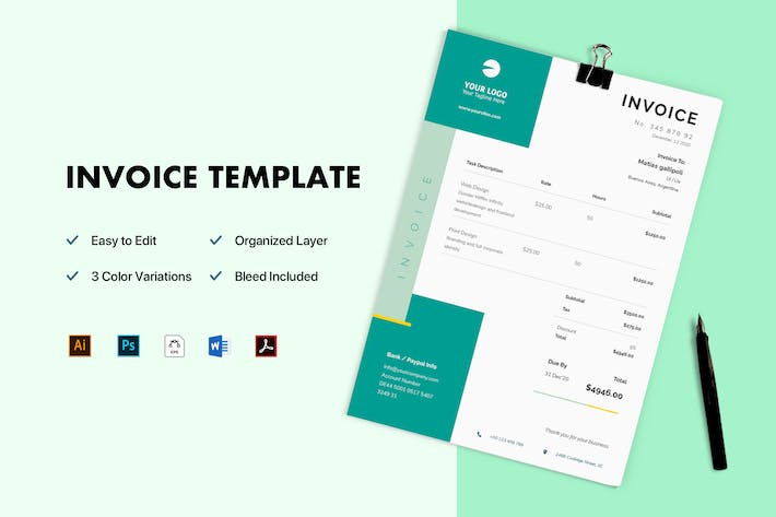 Thumbnail for Invoice Stationery