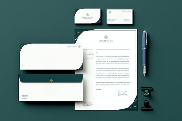 Thumbnail for Blue Branding Identity & Stationery Pack