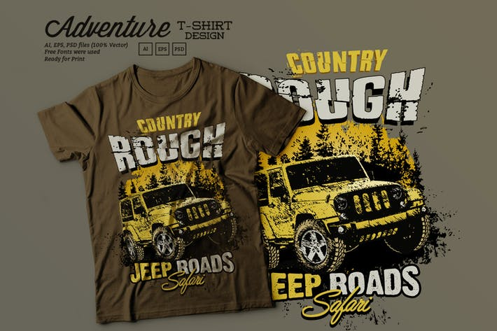 Thumbnail for Off Road Adventure T Shirt Design