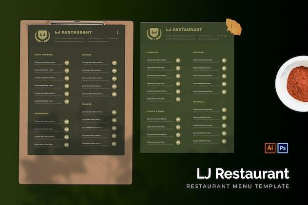 LJ - Restaurant Menu