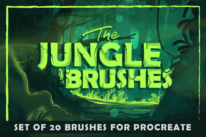 Cover Image For The Jungle: Procreate Brushes