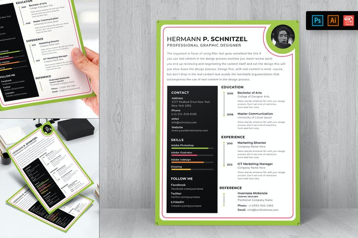 Cover Image For Resume CV Template-44