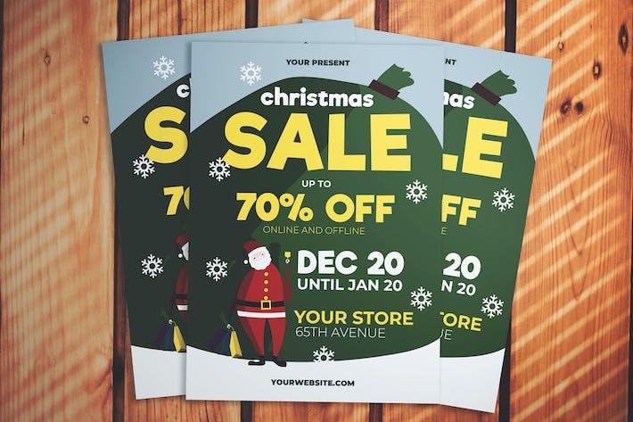 Thumbnail for Christmas Santa Sale Flyer