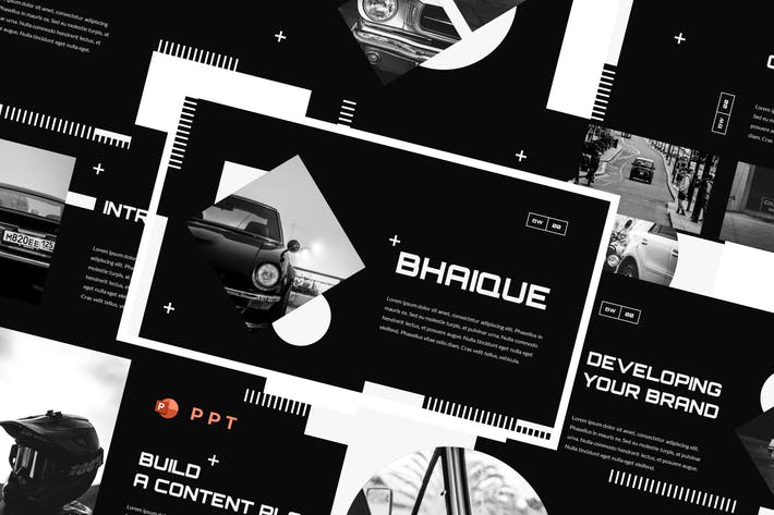 Thumbnail for BHAIQUE - Black and White Powerpoint Template