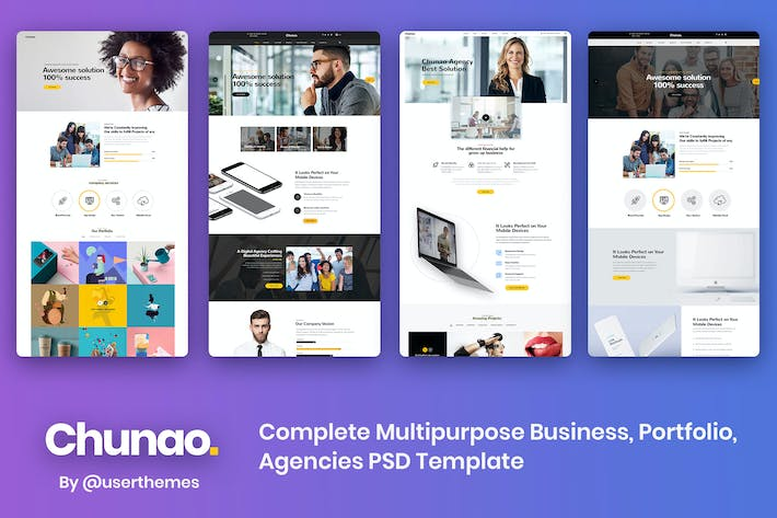 Thumbnail for Chunao - Multipurpose Business PSD Template