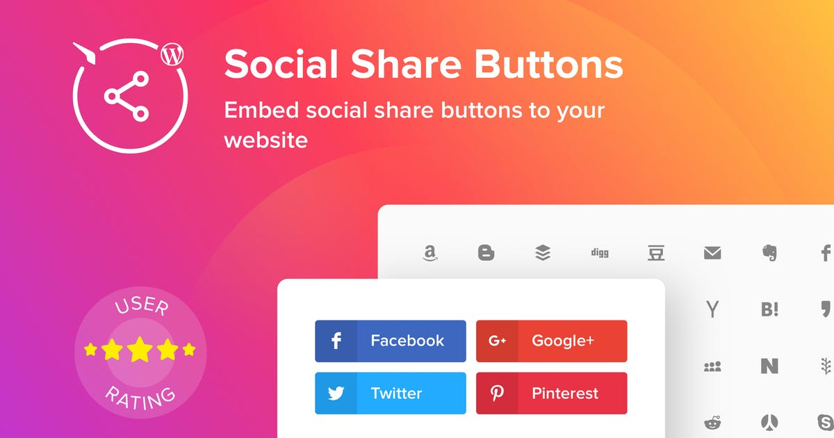 Download WordPress Social Share Buttons by Elfsight