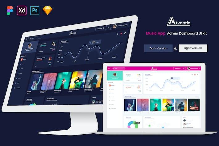Thumbnail for Atvantic - Music App Admin Dashboard UI Kit