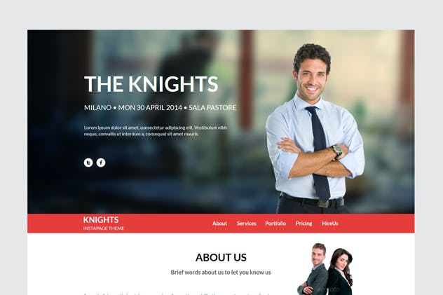 Knights Multipurpose UnbounceTemplate