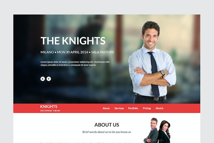 Thumbnail for Knights Multipurpose UnbounceTemplate
