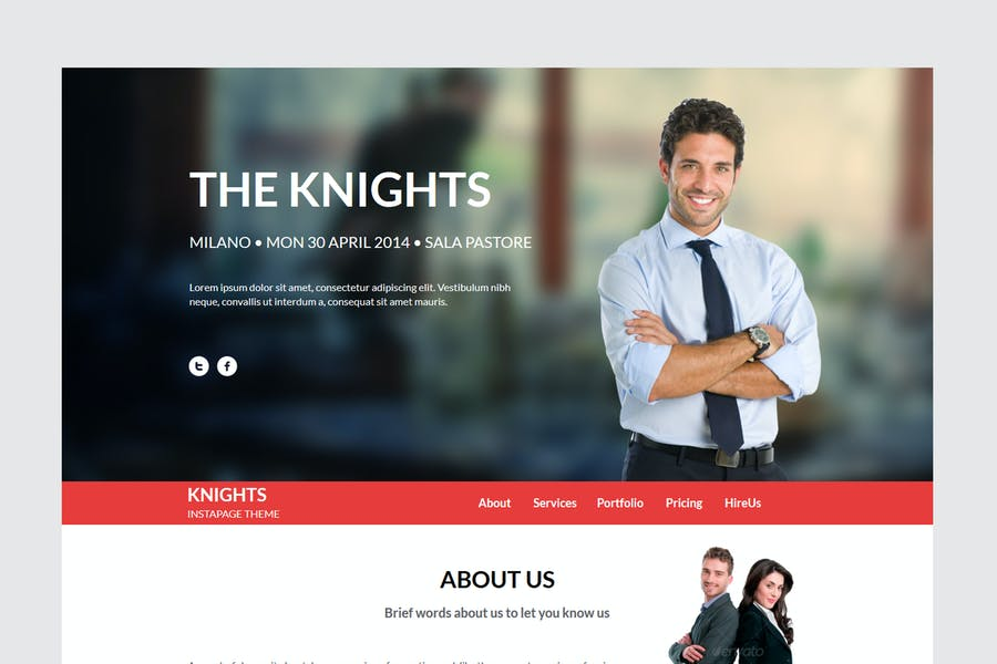 Knights Multipurpose UnbounceTemplate
