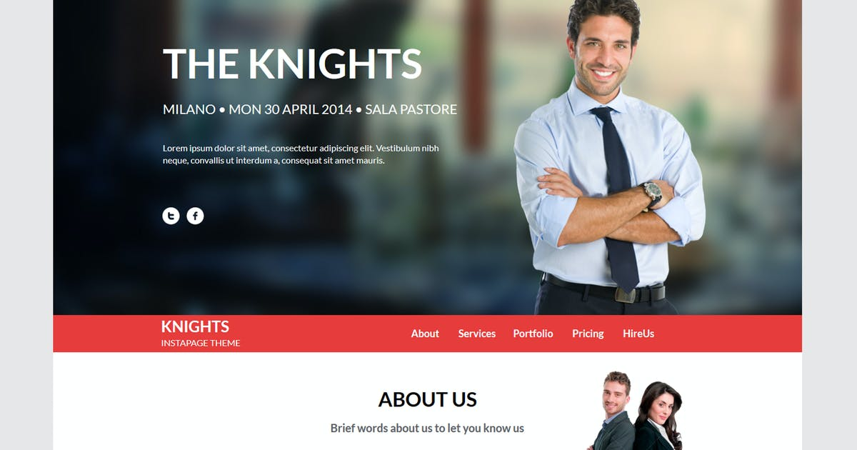 Download Knights Multipurpose UnbounceTemplate by xvelopers