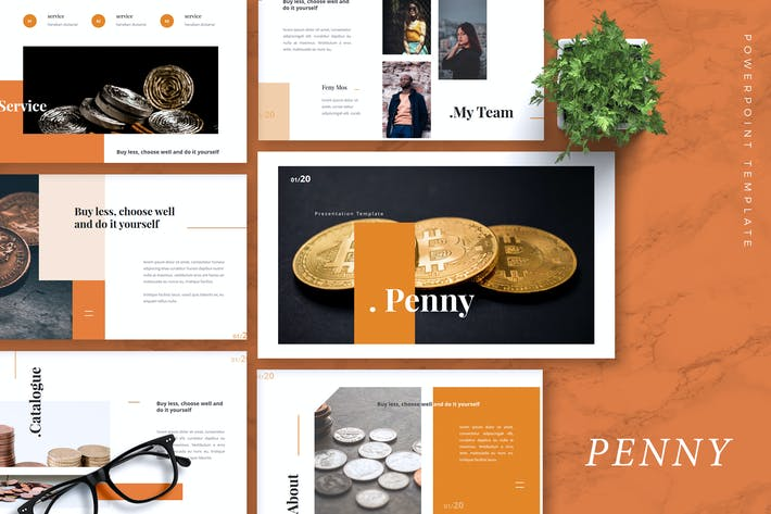 Thumbnail for PENNY - Bitcoin Powerpoint Template