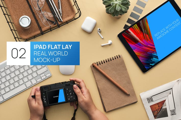 Thumbnail for iPad Pro Flat Lay Real World Photo Mock-up