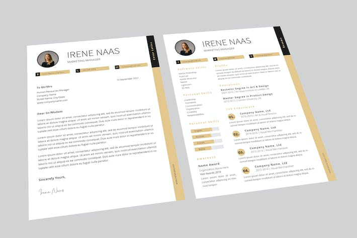 Cover Image For Irene Manager Resume Designer