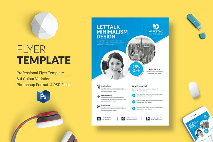 Thumbnail for Business Flyer Template 43