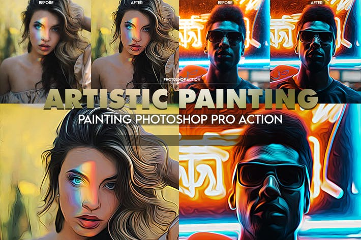 Thumbnail for Artistic Painting Photoshop Action