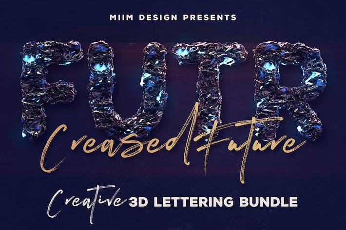 Thumbnail for Creased Future – 3D Lettering