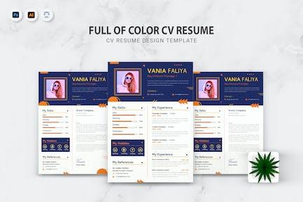 Full Of Color CV Resume