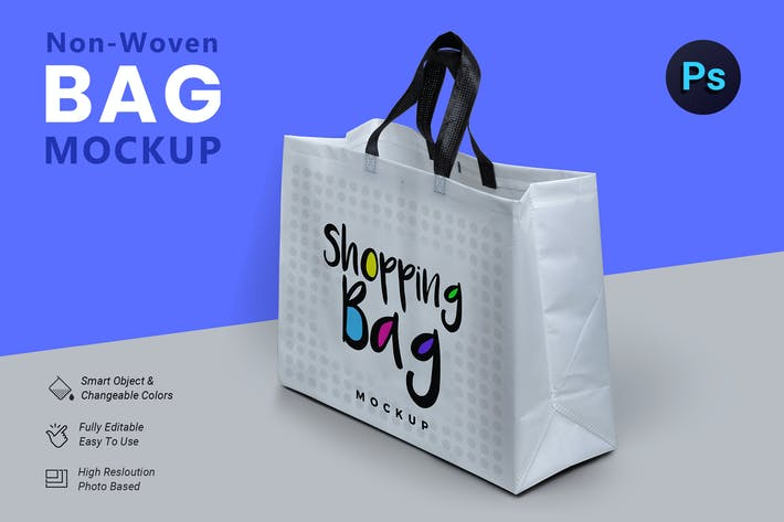Cover Image For Non Woven Bag Mockup