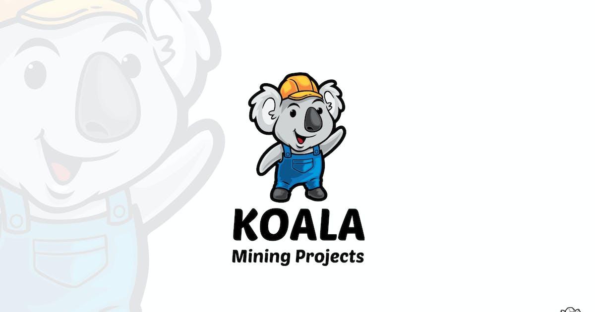 Download Koala Mining Cartoon Logo Mascot by rautanstudio