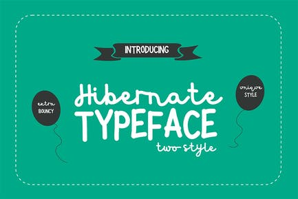 Hibernate Two Style Font