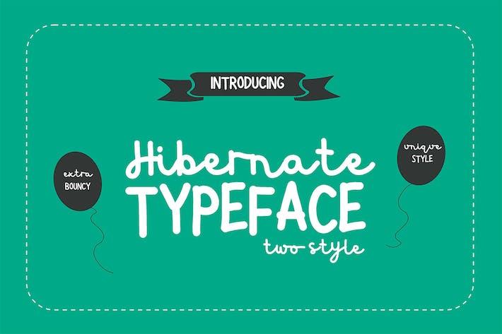 Thumbnail for Hibernate Two Style Font