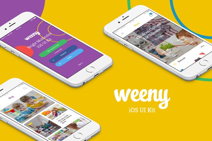 Cover Image For Weeny iOS UI Kit