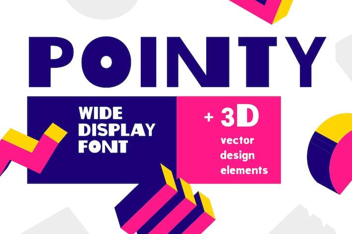 Pointy| fashion bold font