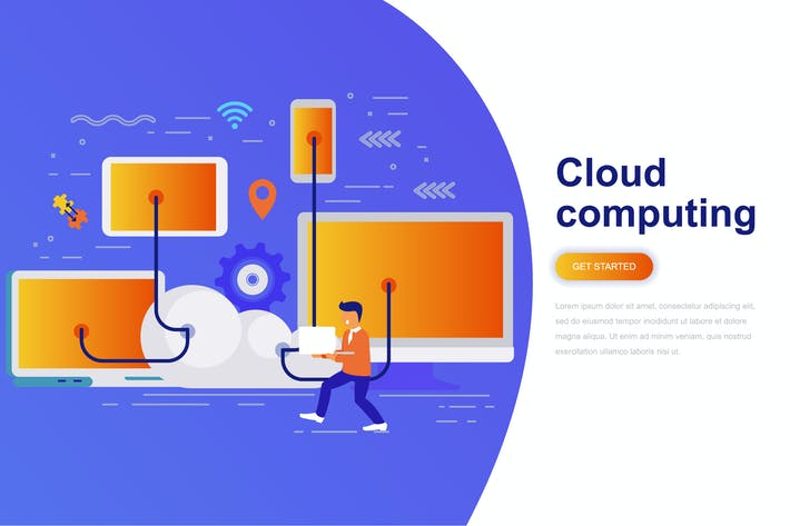 Thumbnail for Cloud Computing Modern Flat Concept