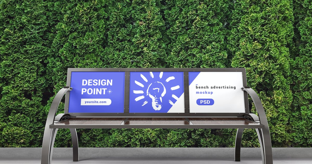 Download Bench Advertising Mockup 02 by StreetD