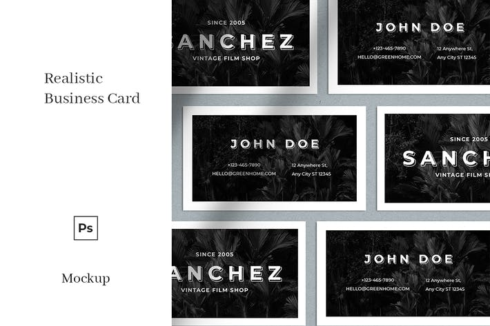 Thumbnail for Realistic Business Card Mockup