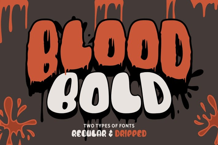 Thumbnail for Blood Bold - Fun Halloween Two Fonts