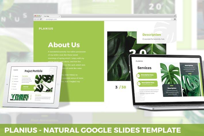 Planius - Натуральный Шаблон слайдов Google