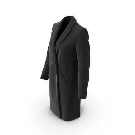 Damen Mantel Schwarz