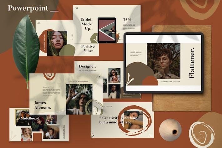 Thumbnail for Flattener Brand Sheet Powerpoint