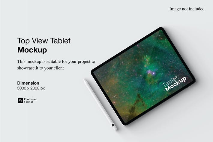 Top View Tablet Mockup