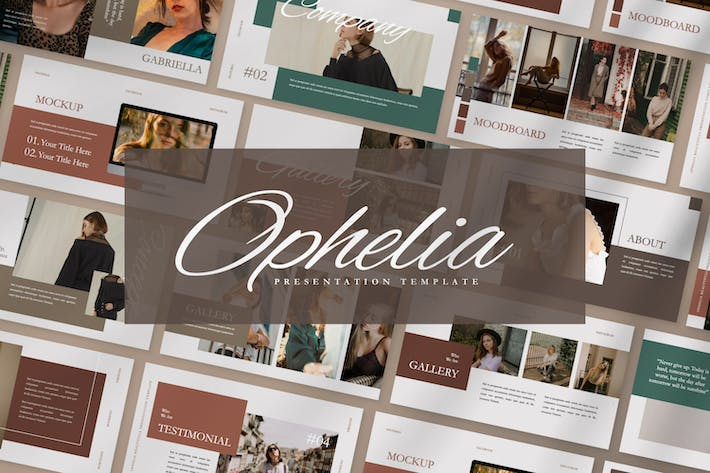 Thumbnail for Ophelia Brand Business Woman Keynote Presentation