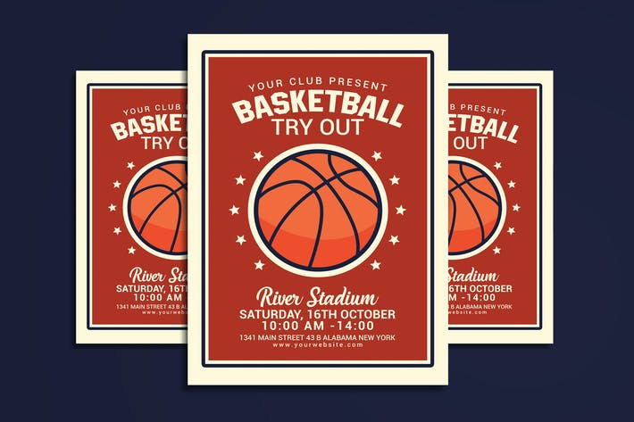 Thumbnail for Basketball Tryout Flyer