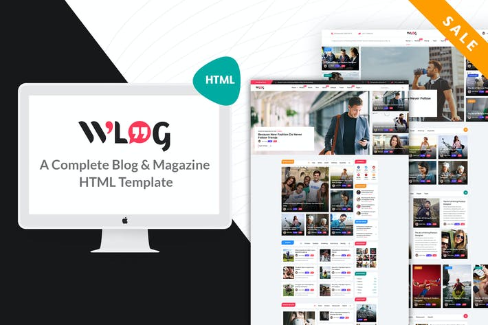 Wlog - Blog and Magazine HTML Template