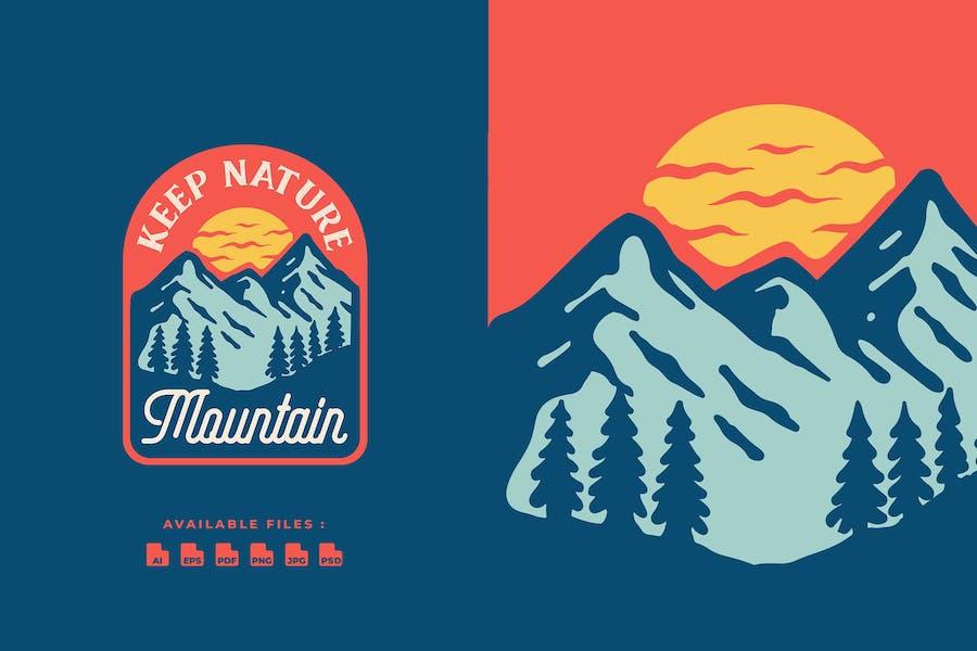 Nature Mouintain Badge Logo