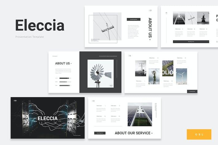 Thumbnail for Eleccia - Renewable Energy Google Slides Template