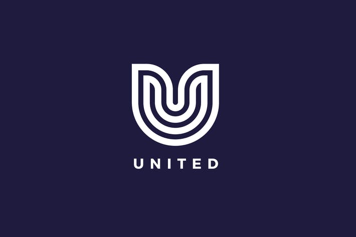 Cover Image For United U Letter Logo Template