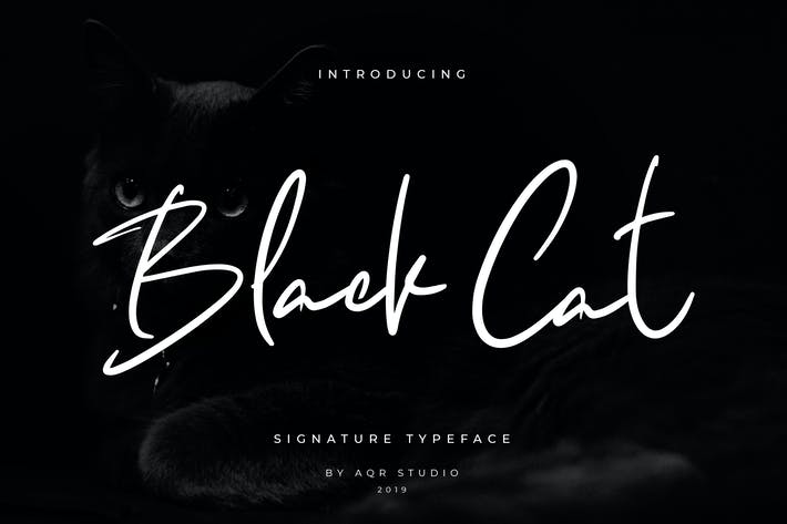 Thumbnail for Black Cats Siganture Font
